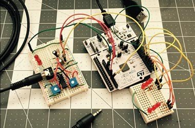 The Sound (and Sight) Of Music! Teaching Electronics With The Stm32