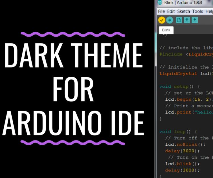 Dark Theme For Arduino Ide